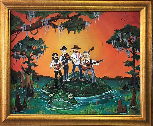 """""""Swampgrass"""" Acrylic on wood. Found this"""