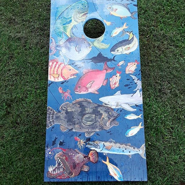 Offshore Florida Fishing Cornhole set #c