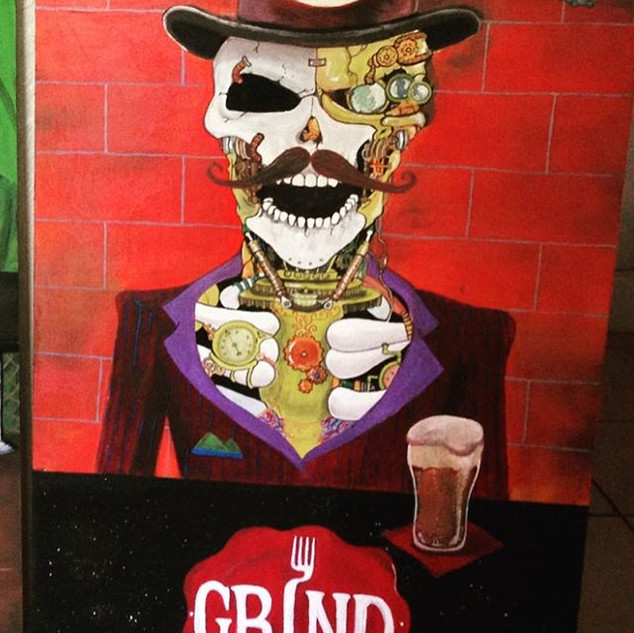 Cornhole Set for Grind Gastropub in Ormo