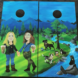 Another Custom Cornhole ! These two pet-