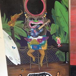 Cornhole set for Kona Tiki Bar in Ormond