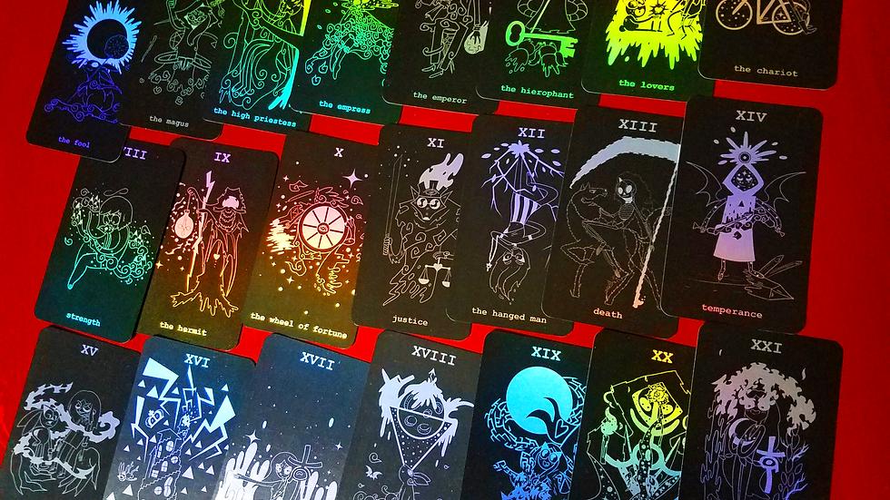 Holographic Toon Tarot
