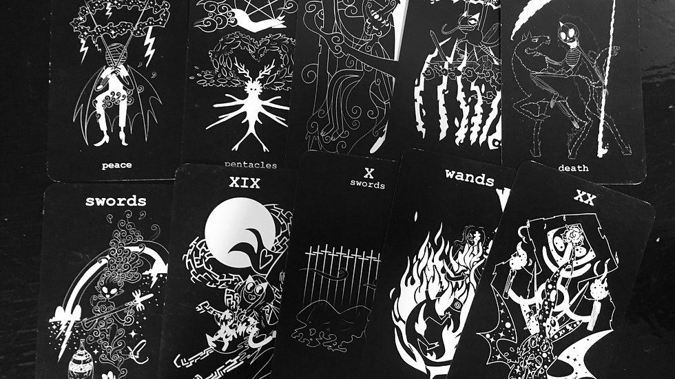 Black & White Toon Tarot