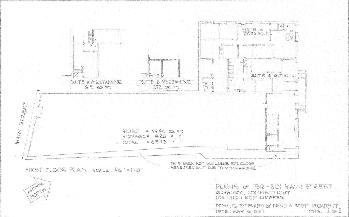 199-201 Main Street Main Level Plan