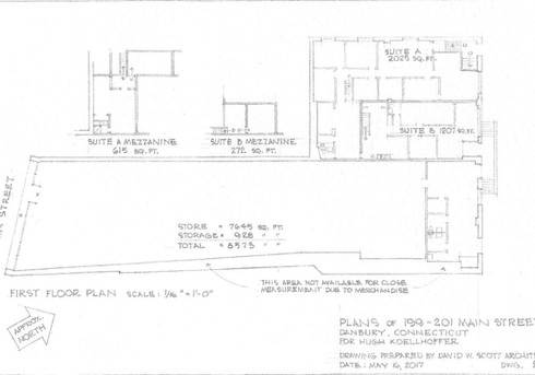 199-201 Main Street Main Level Plan