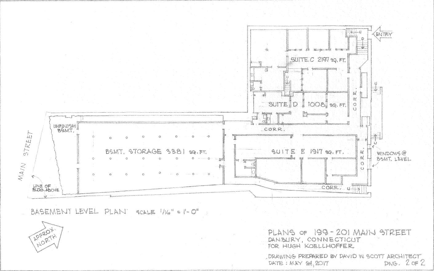 199-201 Main Street Lower Level Plan