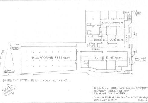 199-201 Main Street Lower Level Plan