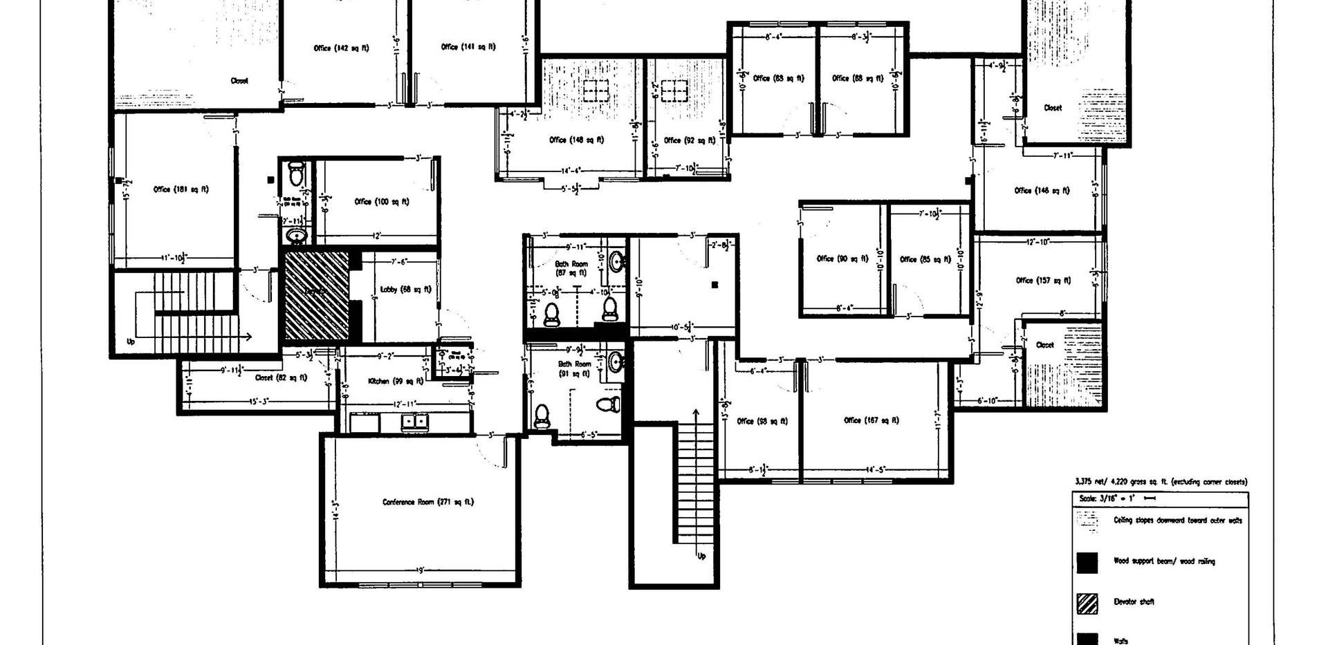 162 Danbury Road - Upper Level Floor Plan