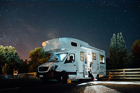 Picture of RV at night