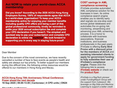 Corporates Partners- iFinGate Collaboration with ACCA