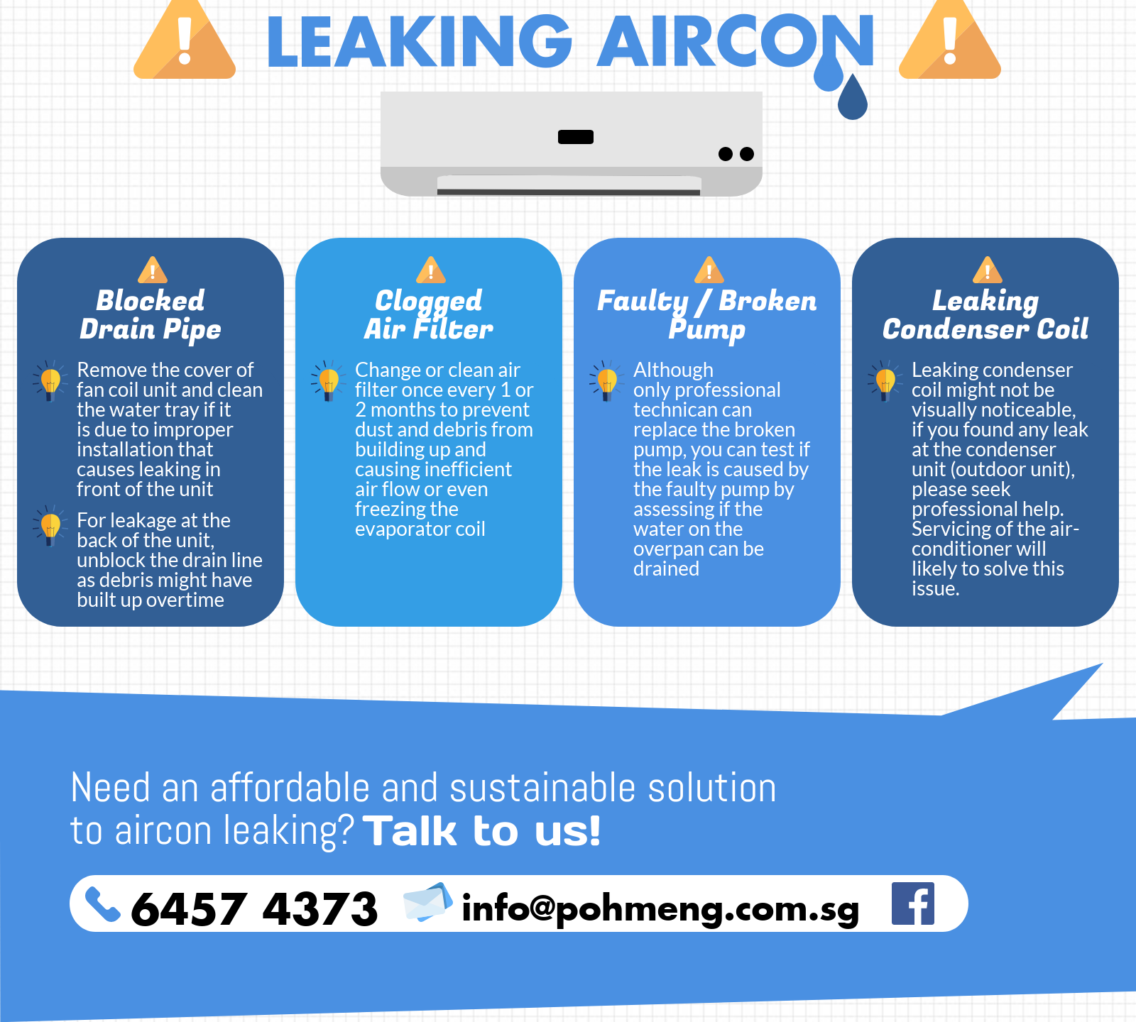 DIY Solutions to Leaking Aircon
