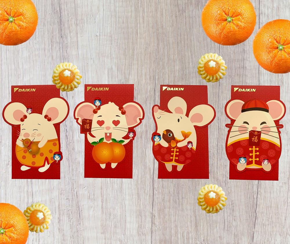 Daikin Red Packet Design (Rat)