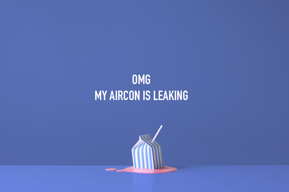 leaking aircon illustration
