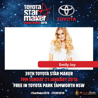 Emily Joy Announced As A Grand Finalist in the 2018 Toyota Star Maker