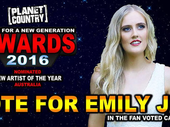 """Nomination for Planet Country's """"New Artist of the Year"""""""