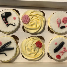 Hairdressing Themed Cupcakes