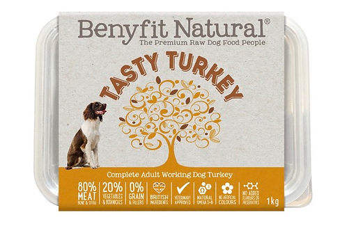 Tasty turkey 1kg complete adult food