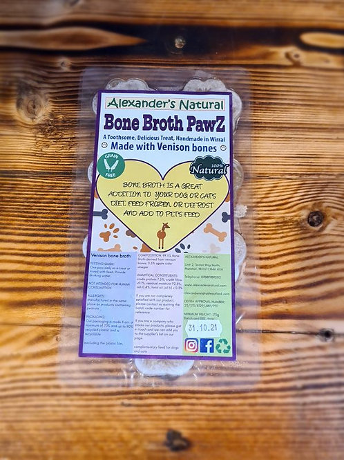 Venison Bone Broth Paws