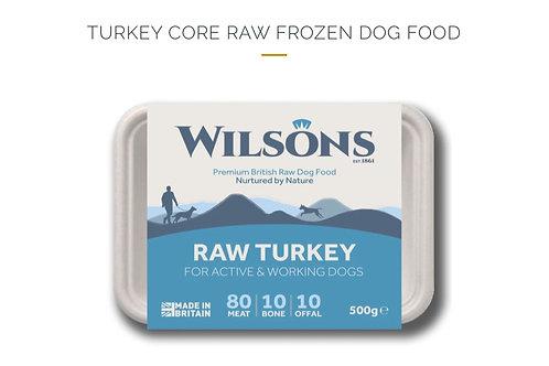 TURKEY CORE RAW FROZEN DOG FOOD 500g