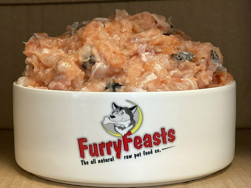 Furry Feasts Salmon Mince 500g boneless