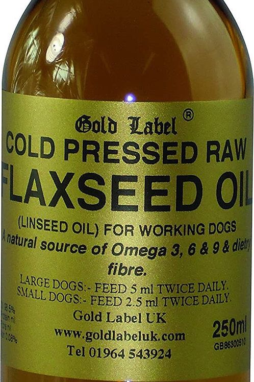 Gold label  canine flaxseed oil 250ml