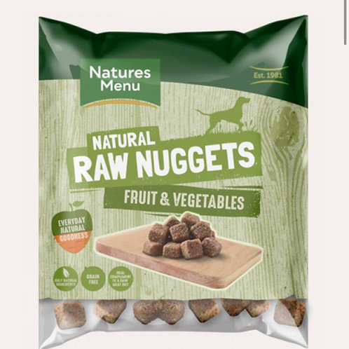 Raw nuggets  fruit and vegetables 1kg