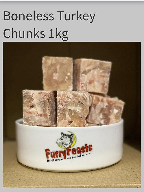 Turkey chunks  1kg may contain soft bone