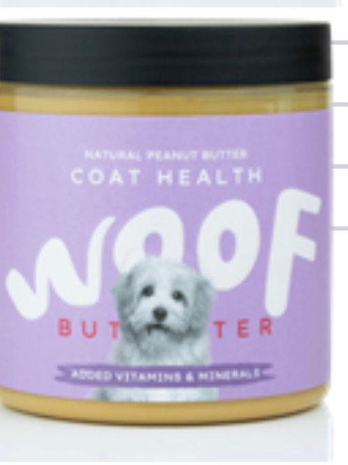 Woof coat and health peanut butter 250g