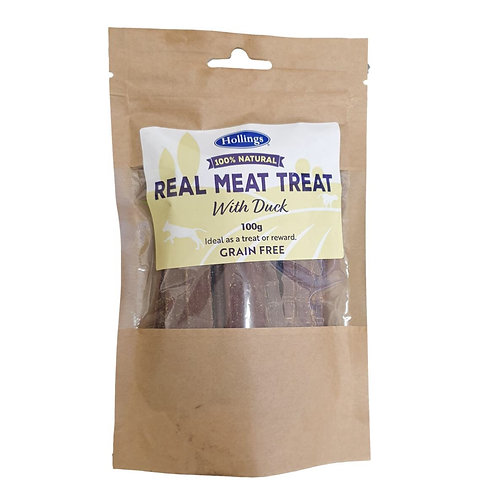 Real meat treat duck 100g