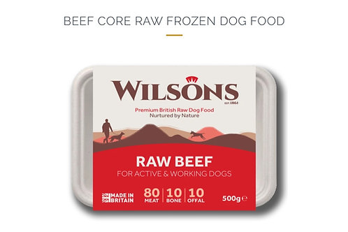BEEF CORE RAW FROZEN DOG FOOD 500g