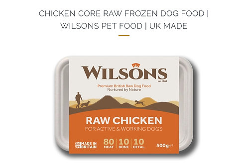 CHICKEN CORE RAW FROZEN DOG FOOD |