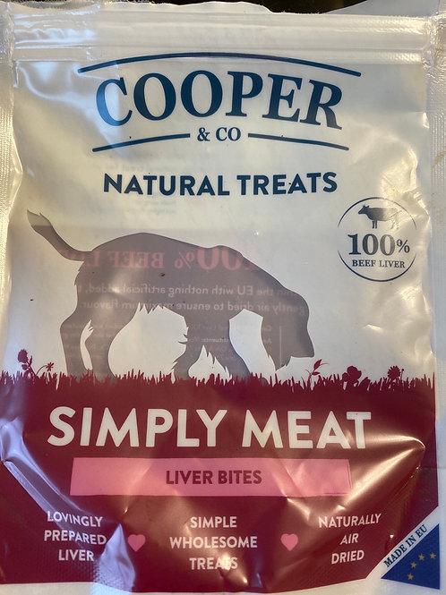 Natural liver treats beef  100g