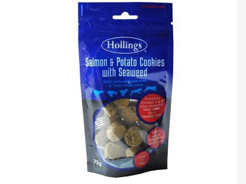 Salmon potatoand seaweed cookies 75g