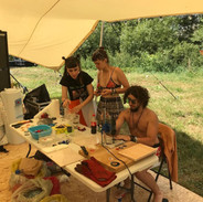 plastic recycling workshop at Electric Castle festival
