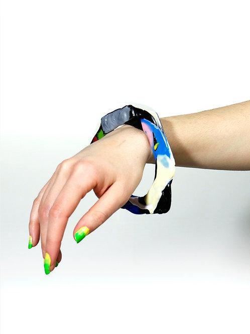 Recycled plastic bracelet-silver