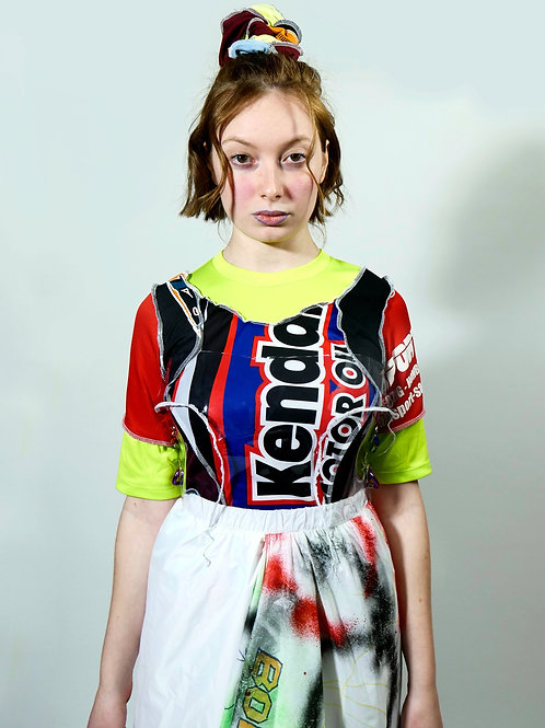 Upcycled sportswear top