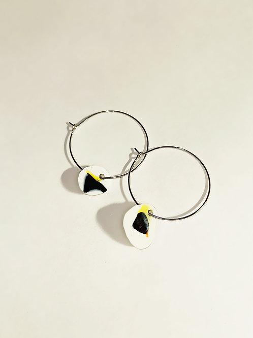 Tiny white earrings