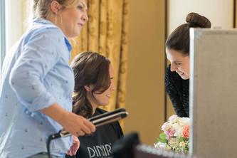 Hochzeitstag Styling der Braut