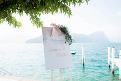 Hochzeit Welcomeschild