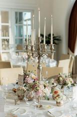 Elegante Tischdekoration Hochzeit