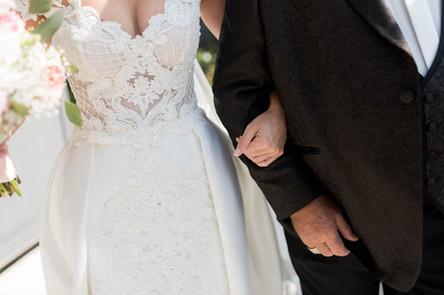 Trauung Einzug Braut mit Brautvater