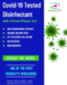 Covid-19 Tested Disinfectant