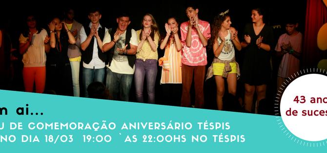Sarau em comemoração aniversário de 43 anos do Grupo de Teatro Téspis