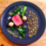 Black pepper seared pork loin, cayenne p