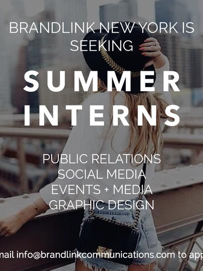 Summer Intern Ad