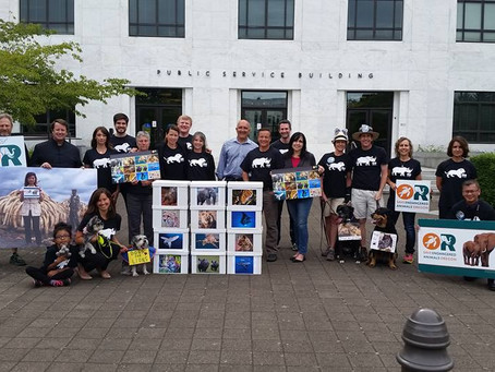Save Endangered Animals Campaign Delivers Petition Signatures
