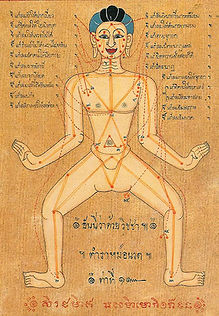 Ancient Sen Lines Drawing