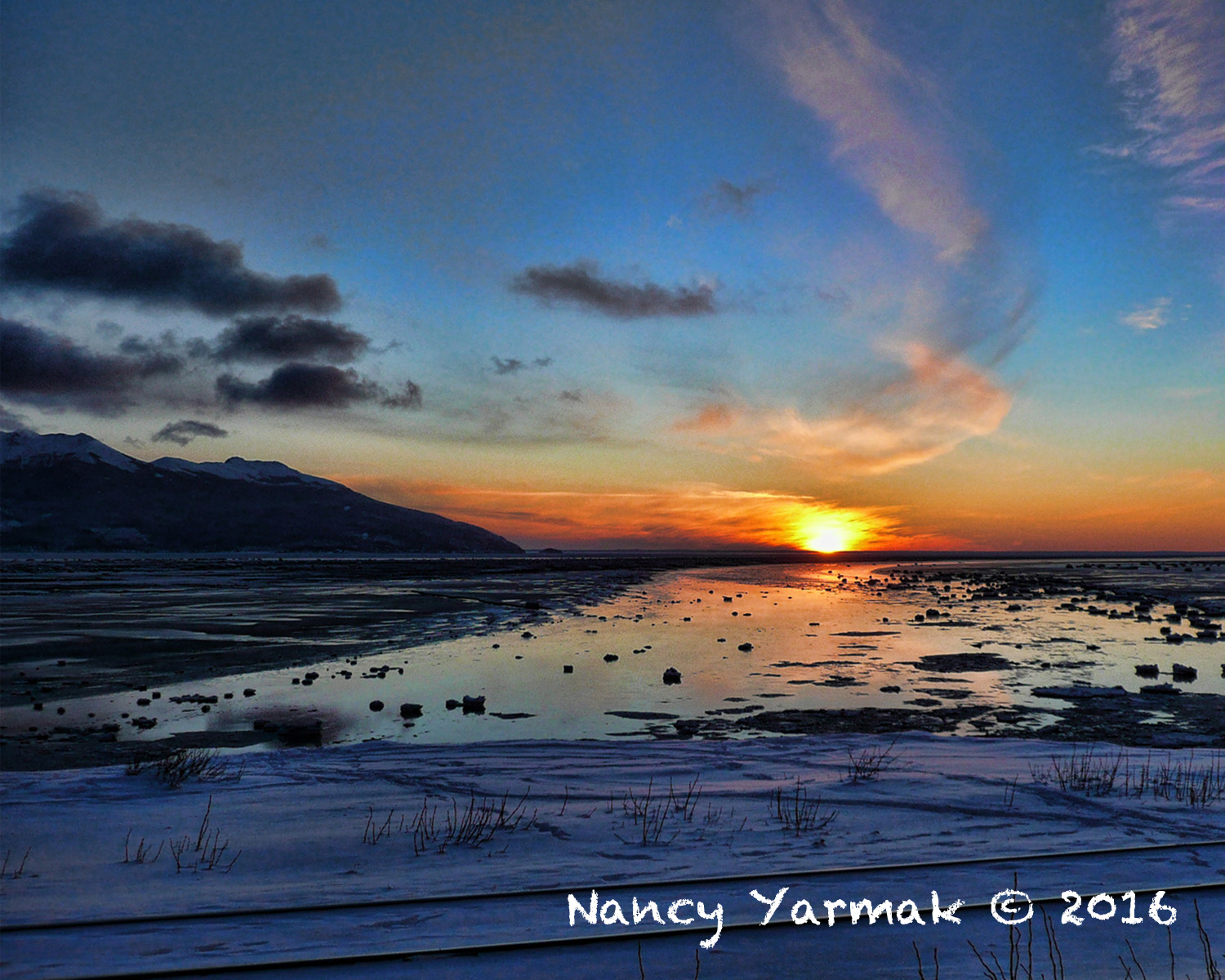 Turnagain Arm Sunset-Nancy Yarmak