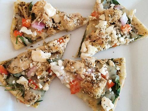 Chicken Pesto Pizza (4 slices)