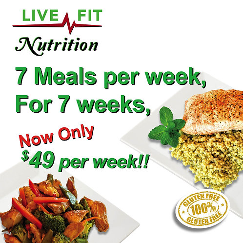 7 meals, 7 weeks, Weekly payment option Hit Subscribe $49 weekly